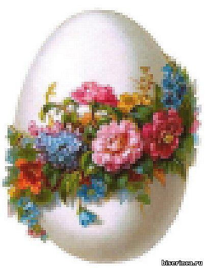 Схема для вышивки Пасхальное яйцо